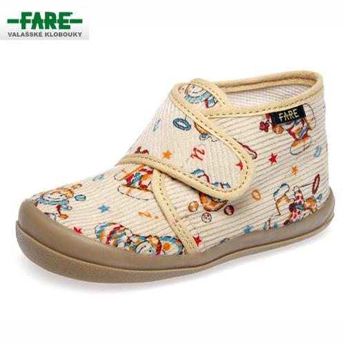 b02ba3c13b5 FARE bačkory dětská domácí obuv kotníčková 4012481