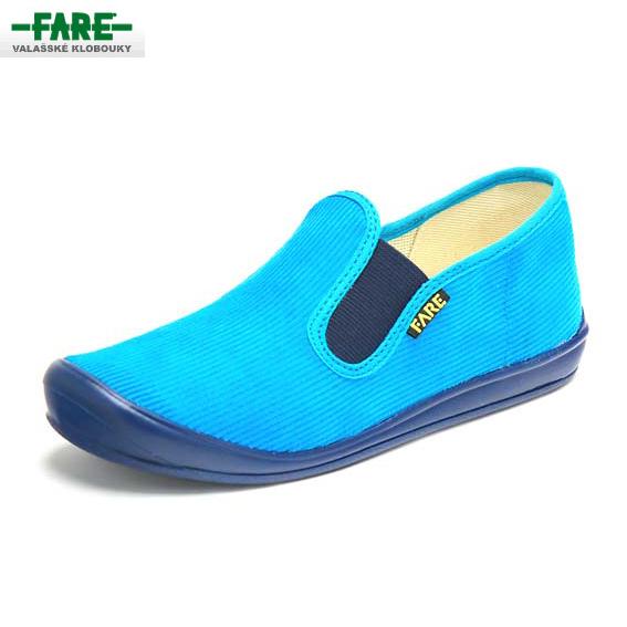FARE bačkory dětská domácí obuv tyrkysová vel. 35  f66fdda51a