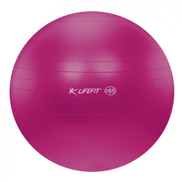 LIFEFIT ANTI-BURST gymnastický míč 65 cm, bordó