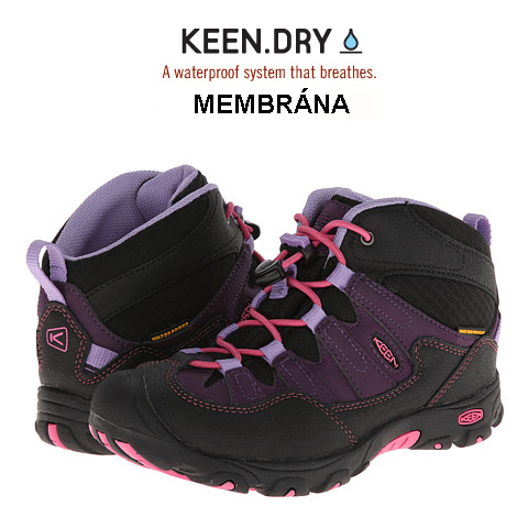 KEEN Pagosa Mid WP Jr blackberry/bougainvillea