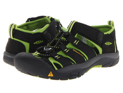 KEEN Newport H2 Jr black/lime green