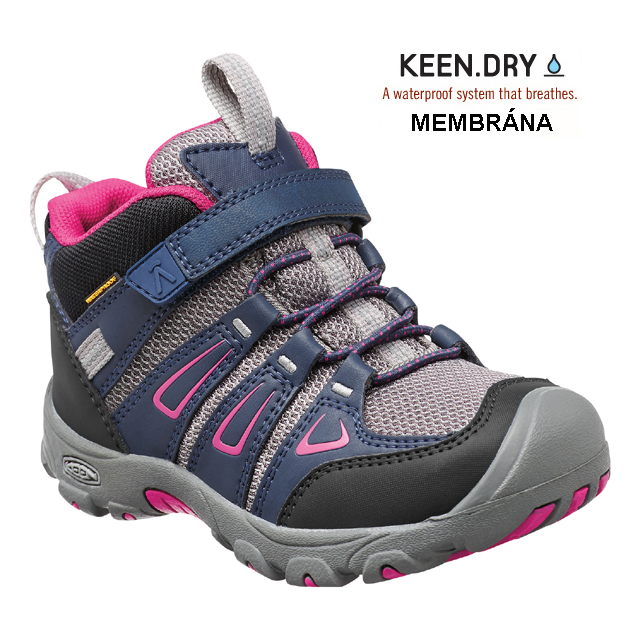 Keen OAKRIDGE WP K, dress blues/very berry